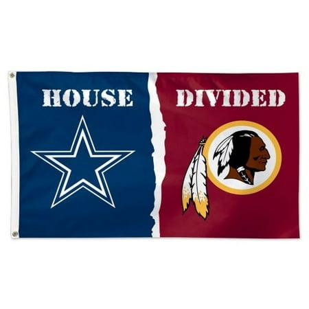 NFL House Divided Flag 3x5 Cowboys vs Redskins - Redskin Vs Cowboys