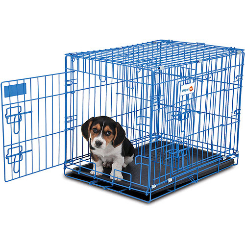 "Aspen Puppy 2-Door Training Retreat, 24"", Blue"
