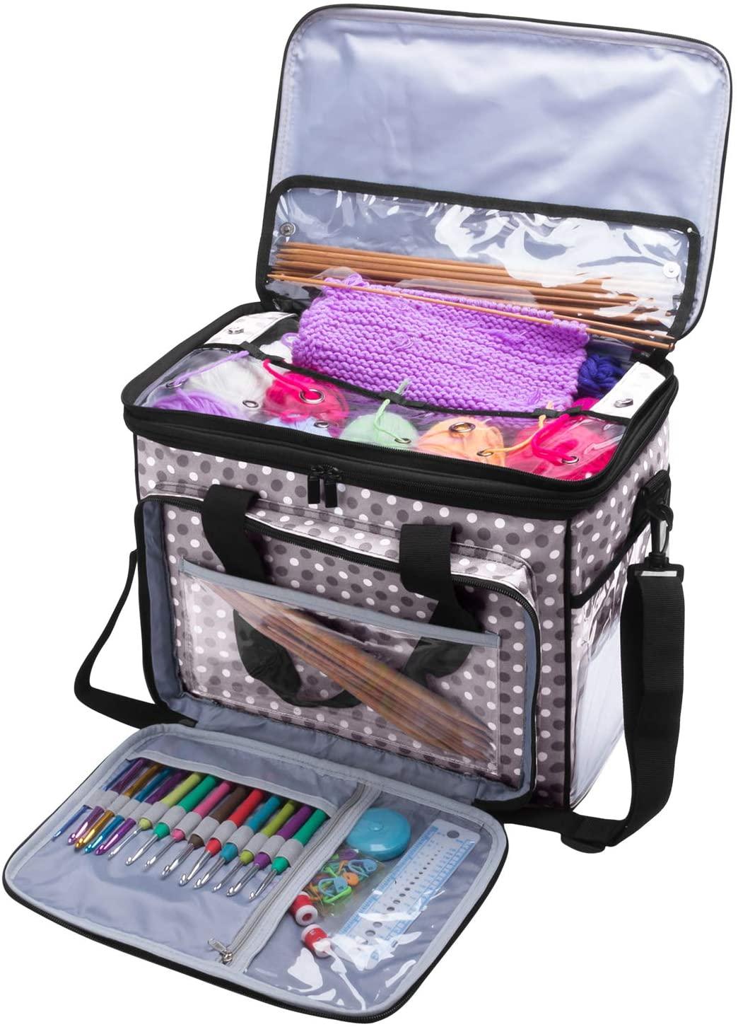 Small Box Bottom Knitting Project Bag NEW