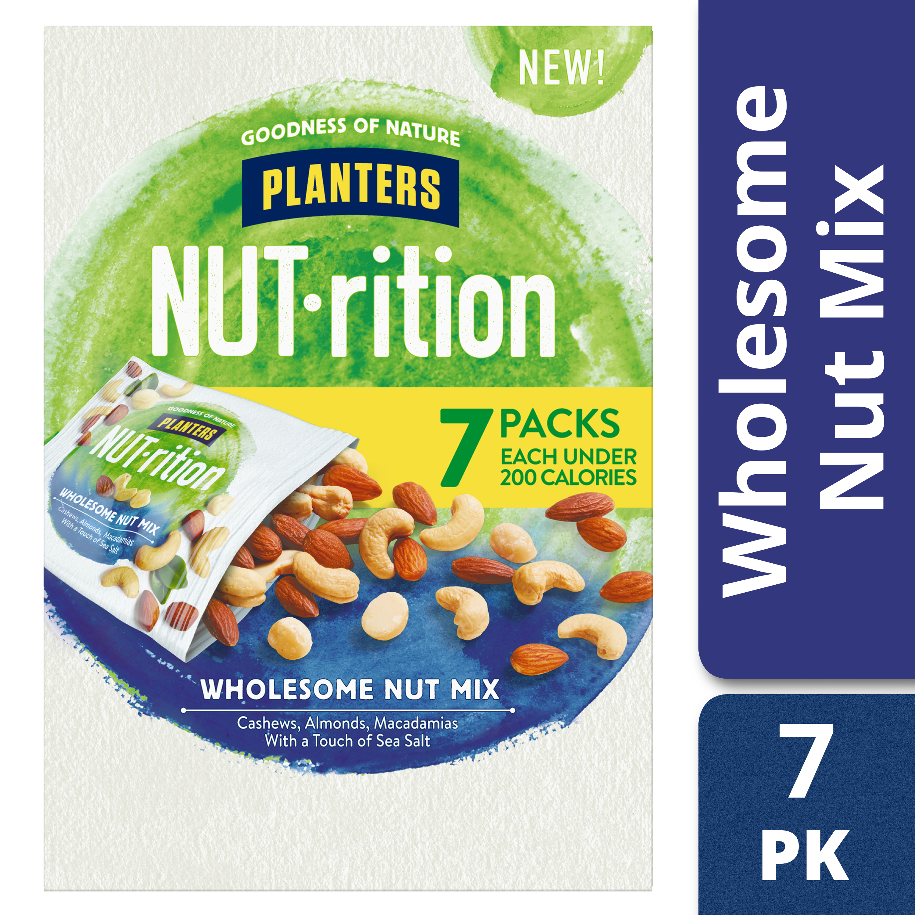 Planters NUT-rition Wholesome Nut Mix, 6 - 1.25 oz Bags
