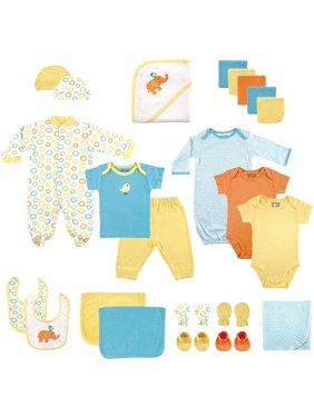 Luvable Friends Newborn Baby Boy or Girl Unisex Deluxe Baby Shower Gift Set, 24pc