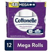 Cottonelle Ultra ComfortCare Soft Toilet Paper, 12 Mega Rolls