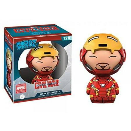 Marvel Civil War Iron Man Open Helmet Dorbz Funko Vinyl Figure 128