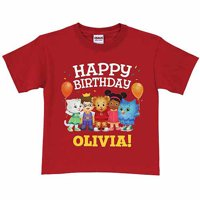 Personalized Daniel Tiger's Neighborhood Kids' Birthday T-Shirt, Red