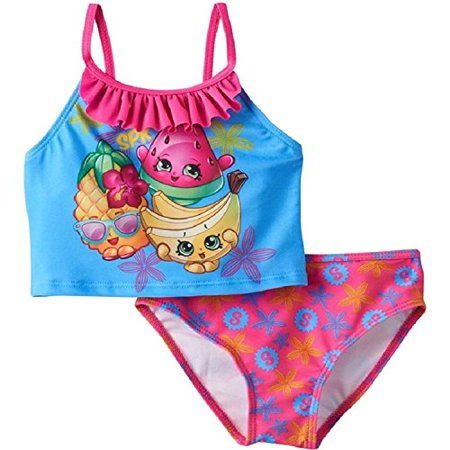 3c8067e0dec9c Shopkins - SHOPKINS GIRLS' TANKINI SWIMSUIT Bathing Suit 2 Piece In Pink/Blue  Sizes: 4, 5/6, 6X (4) - Walmart.com