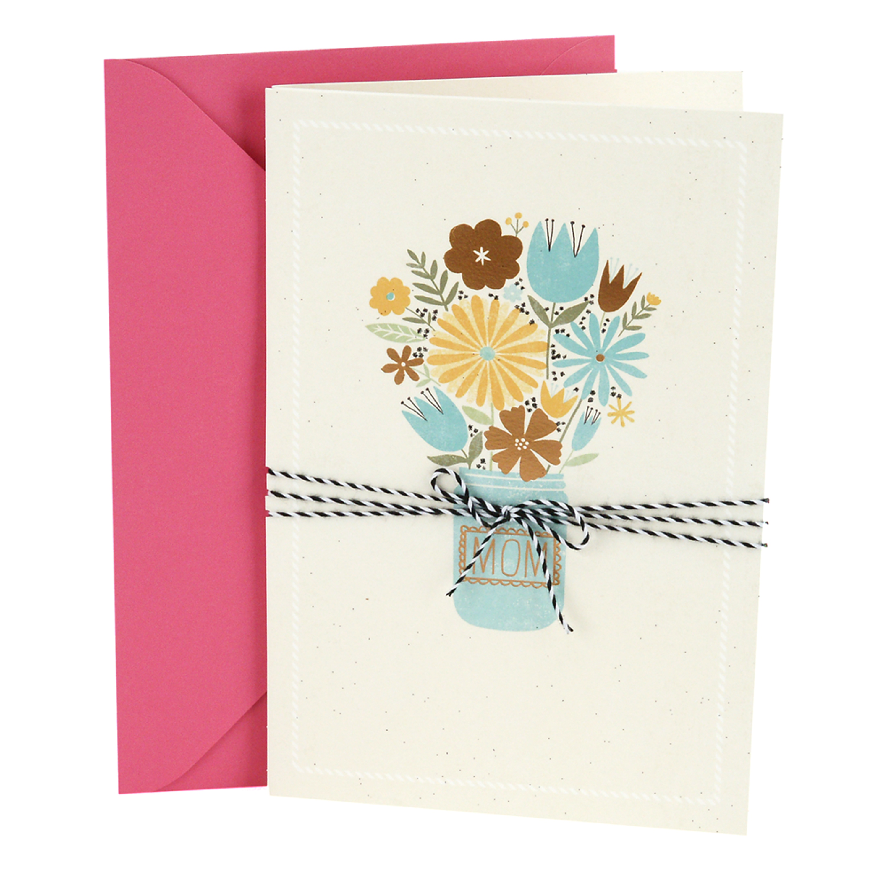 Hallmark Birthday Greeting Card to Mother (Bouquet in Jar)