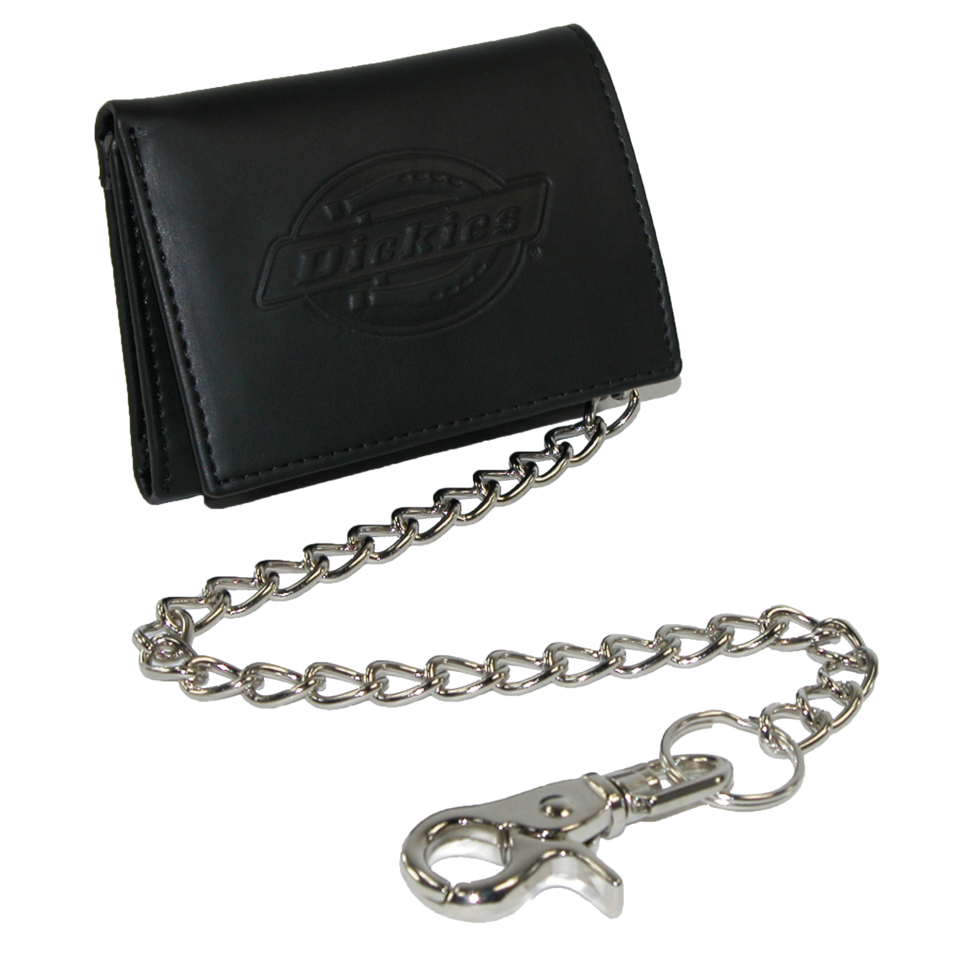 Dickies Men's Leather Trifold Chain Wallet