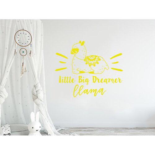 Harriet Bee Little Big Dreamer Llama Quote Nursery Wall Decal