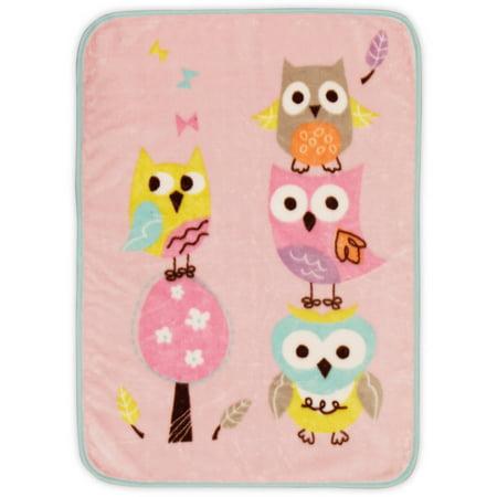 Bananafish Studio Sweet Owl Girl High Pile Blanket