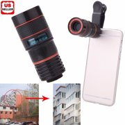 Universal 8X Zoom Lens Optical Clip Telephoto Telescope Cell Phone Camera Lens