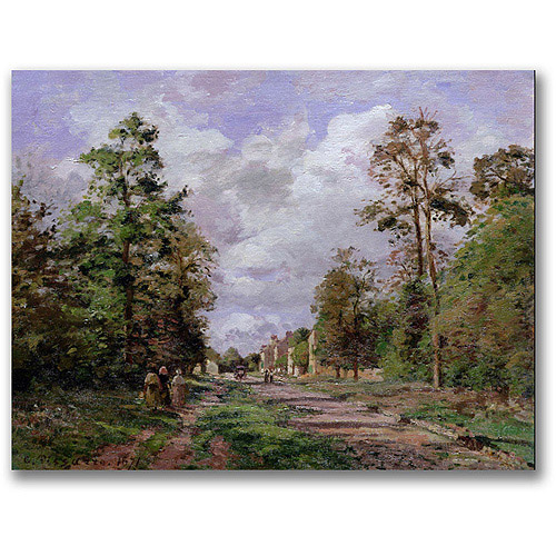 """Trademark Fine Art """"The Road to Louveciennes Edge"""" Canvas Wall Art by Camille Pissaro"""