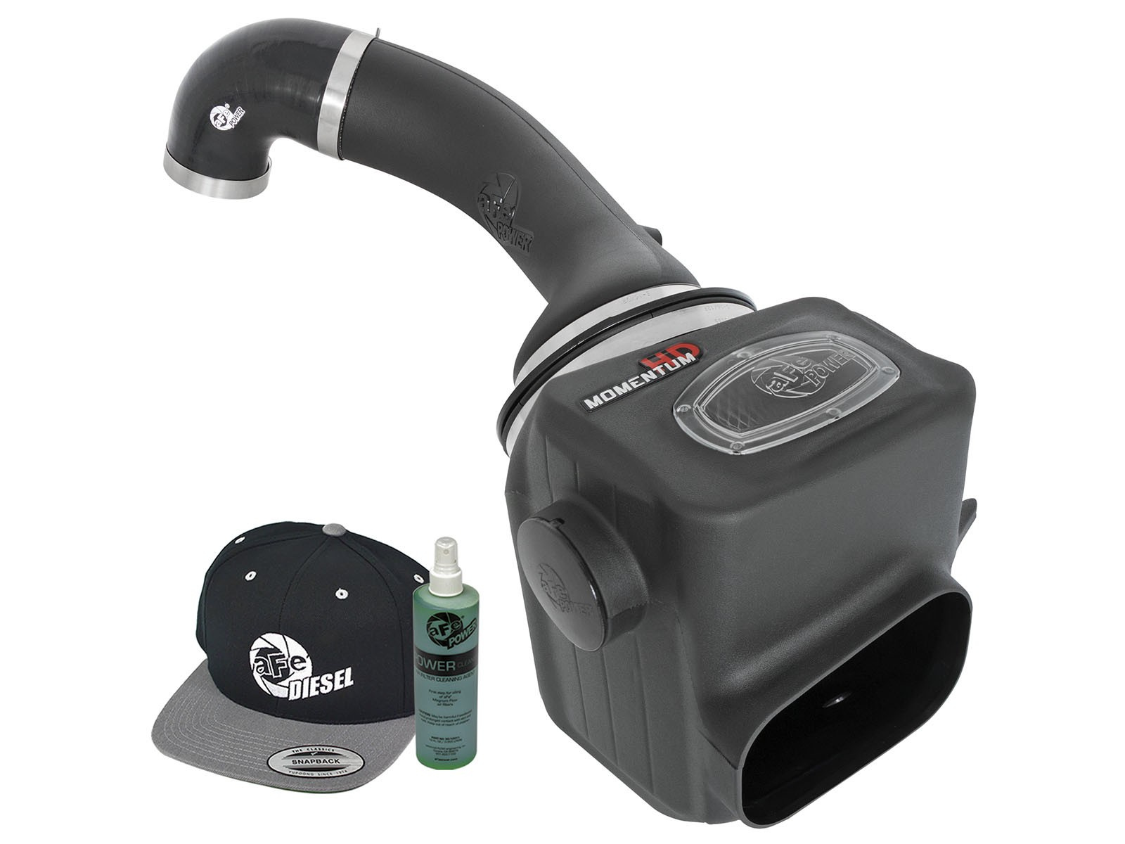 ... Cold Air Intake Elite (TM) Black Plastic Tube  White Pro Dry S Filter   With Air Box  Includes Momentum HD Intake 8ee621386d2