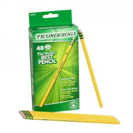 Dixon Ticonderoga Wood-d #2 Pencils, 48-, Yellow (13922)