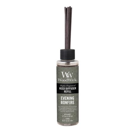Woodwick Candle Reed Diffuser Refill 4 Oz. - Evening Bonfire (Wood Wick Reed Diffuser Refill)