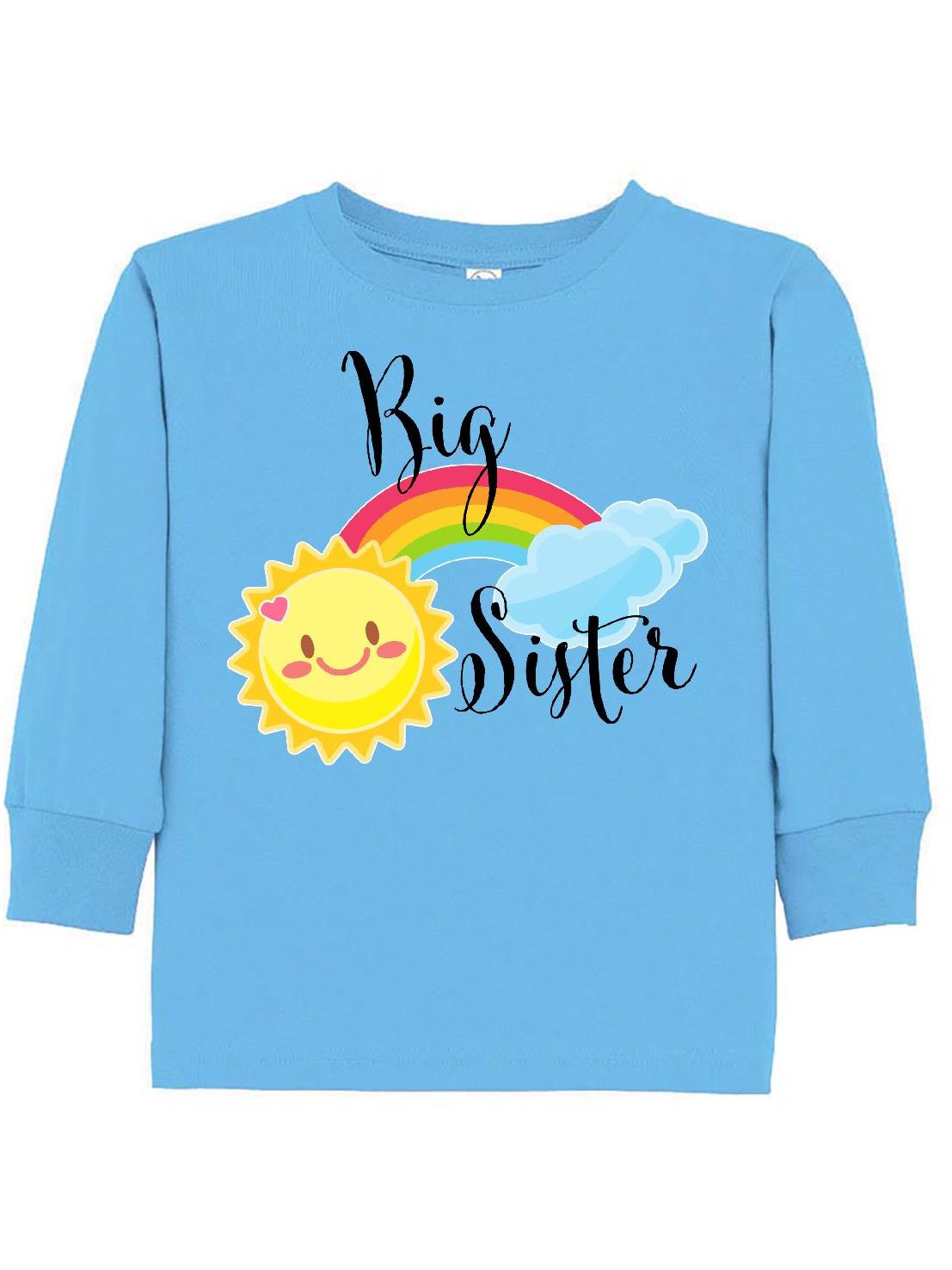 Big Sister- sun and rainbow Toddler Long Sleeve T-Shirt