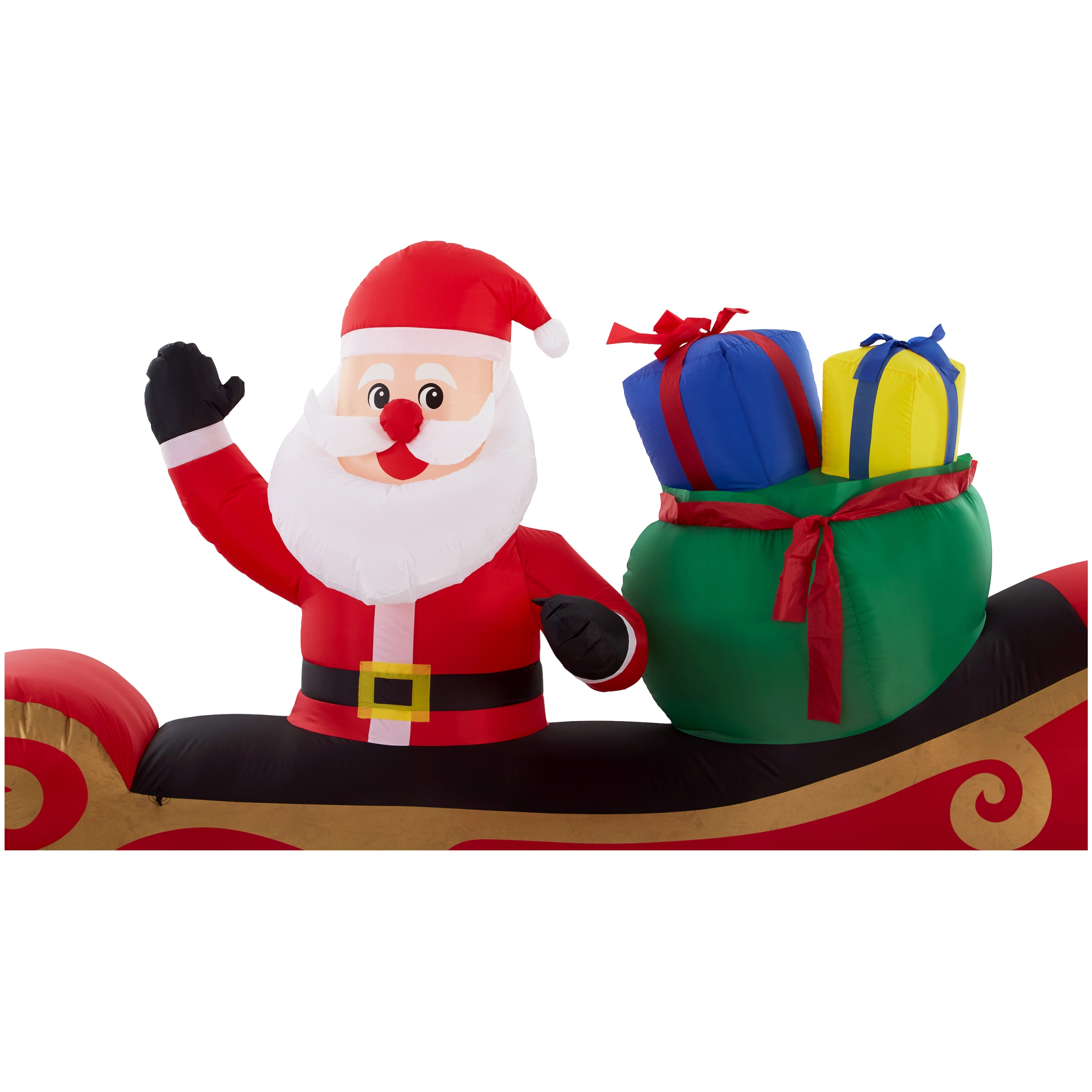 10 Ft Inflatable Santa in Sleigh Indoor Outdoor Christmas Holiday ...