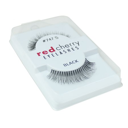 Red Cherry 100% Human Hair False Eye Lashes Fake Eye Lashes #747S (Best Red Cherry Lashes For Almond Eyes)
