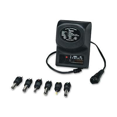 "Tatco Universal AC/DC Adapter 6V 3""x2""x4"" Black 16300"