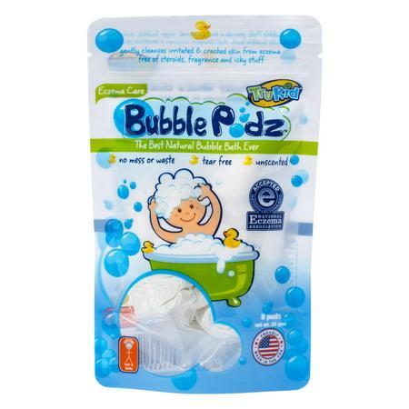 TruKid Bubble Podz Eczema Care Bubble Bath, Unscented, 8