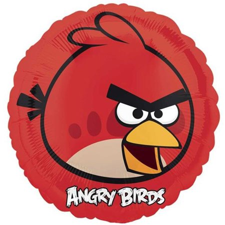 Angry Bird Pumpkin Decorating (Angry Birds Red Foil Mylar Balloon)
