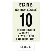 INTERSIGN NFPA-PVC1812(BGN10) NFPASgn,StairIdB,FlrLvl10,FlrsSrvdGto 10 G0263387