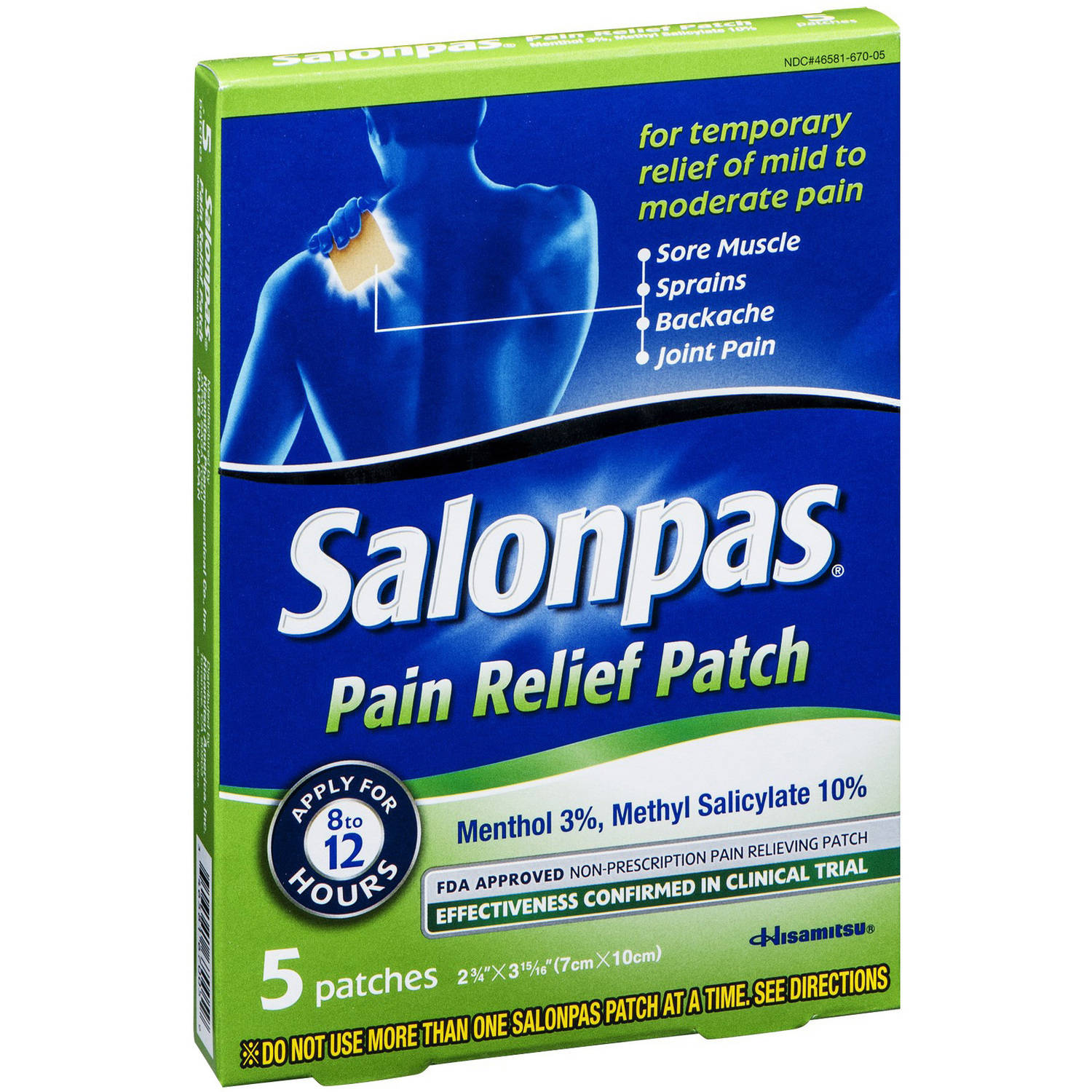 Salonpas Salonpas Pain Relief Patch, 5 CT