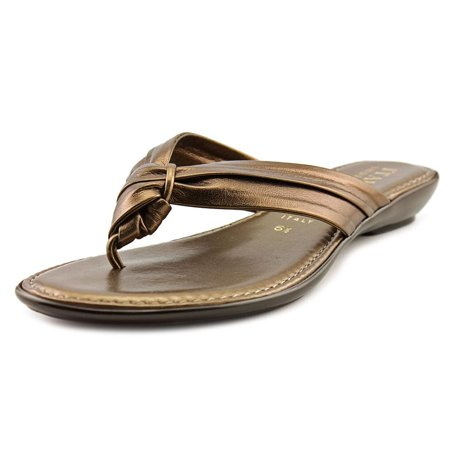 cc5797eef Italian Shoe Makers - Remi Women Open Toe Leather Thong Sandal - Walmart.com