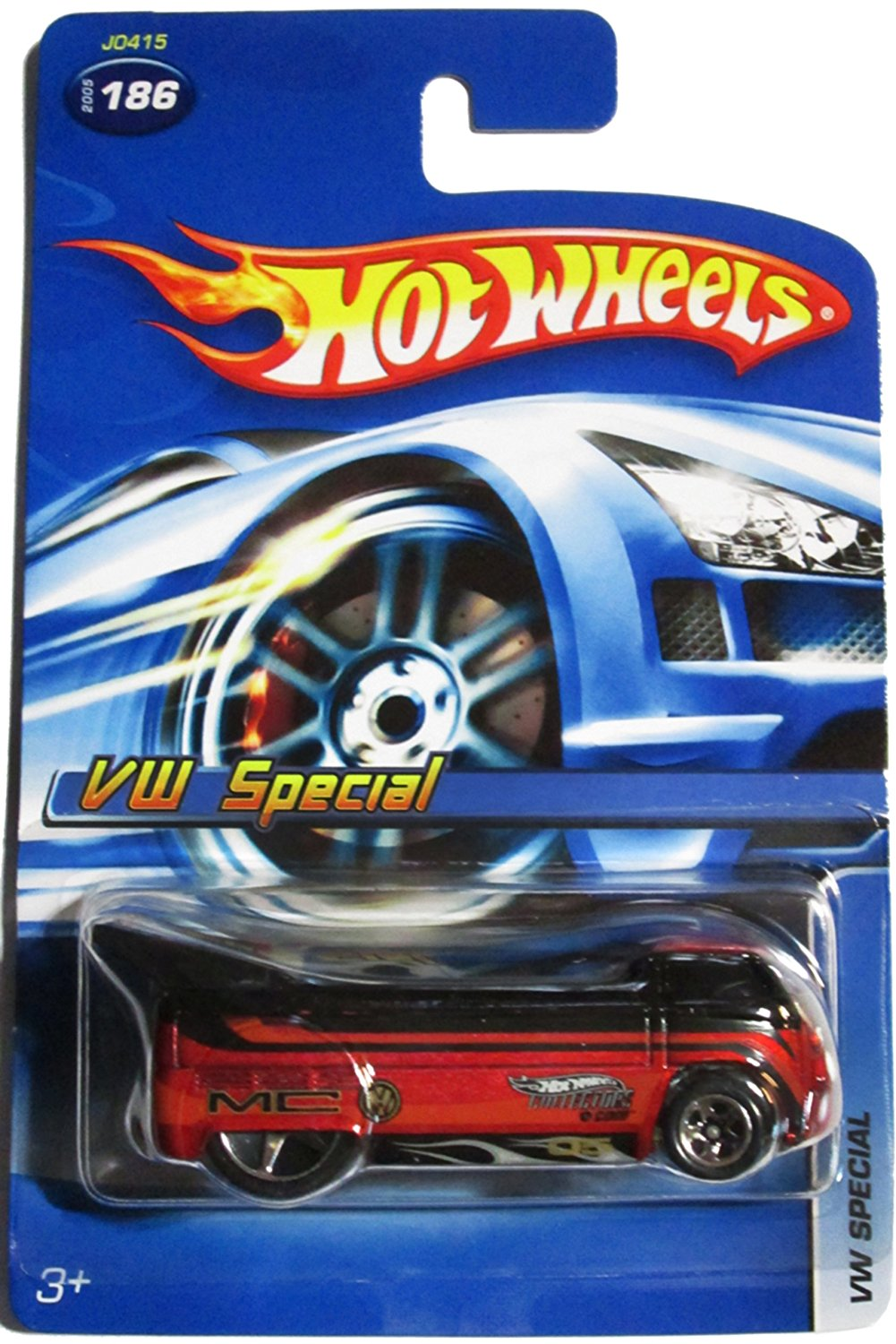 Exclusive Vw Special Drag Truck Black on Red 5 spoke highly detailed collector no UPC... by