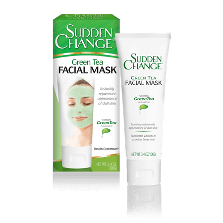 Sudden Change Green Tea Facial Mask, 3.4 Oz (Green Facial Mask)