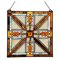 River of Goods Stained Glass Southwestern Mission Style Window Panel