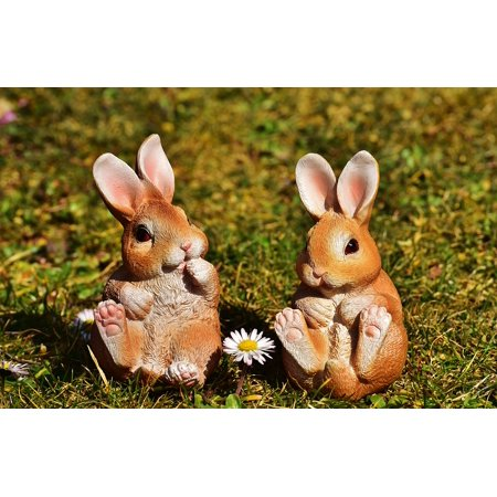 Happy Decorations (LAMINATED POSTER Decoration Happy Easter Easter Bunny Easter Poster Print 24 x)