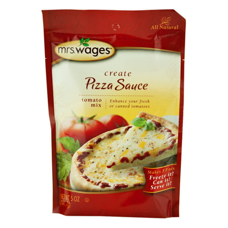 Mrs. Wages Create Your Own Pizza Sauce Mix in 5 oz. Packets (2 Packets)