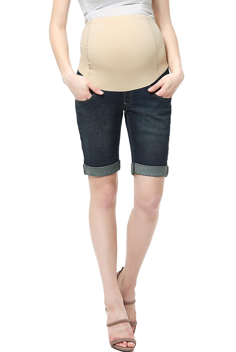 Maternity Women's Denim Shorts 27 by Glow & Grow