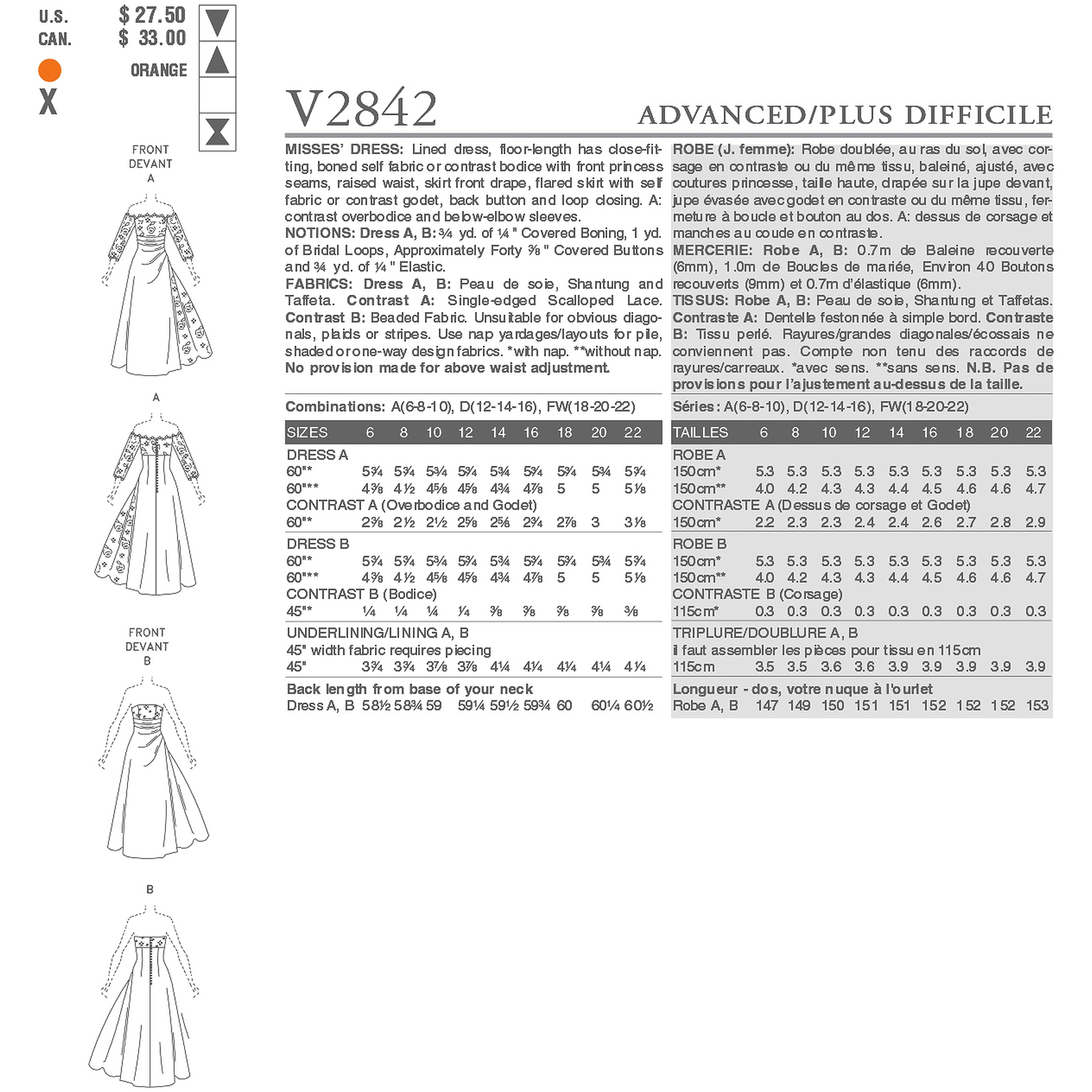 Vogue Pattern Misses' Dress, A (6, 8, 10)