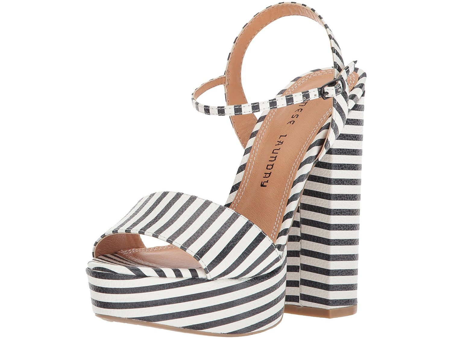 f3d10d7ee2f62 Chinese Laundry Women s Aries Stripe Platform Sandal