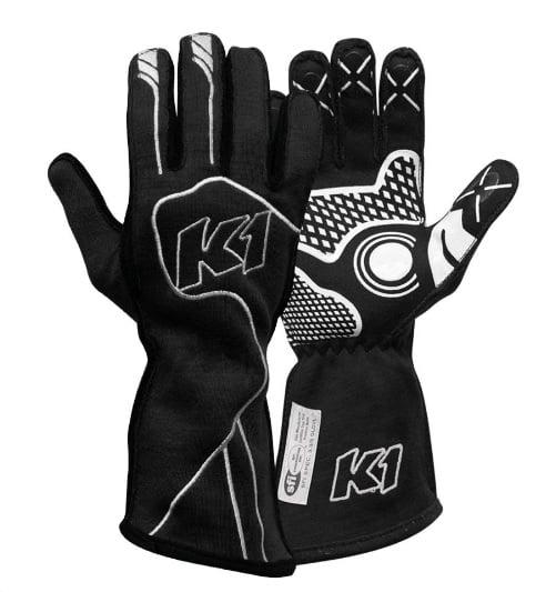 K1 RACEGEAR 23-CHP-N-L Glove Champ Black Large FIA / SFI 5