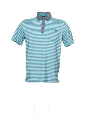 Product Image Sean John Men s Blue Horizontal Striped Polo Shirt 44d3eac324fa