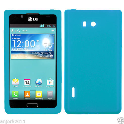 LG SPLENDOR VENICE US730 SKIN GEL SILICONE COVER CASE ACCESSORY TEAL