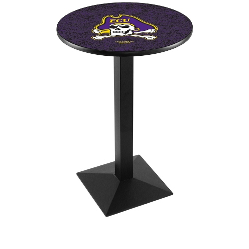 NCAA Pub Table by Holland Bar Stool, Black - ECU Pirates, 42'' - L217