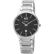 armitron men s watches armitron men s dial date watch black stainless steel bracelet