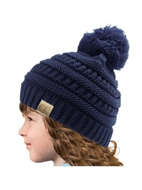 9ebfb2fcf0879f Product Image Kids CC Ages 2-7 PomPom Chunky Thick Stretchy Knit Slouch  Beanie Cap Hat