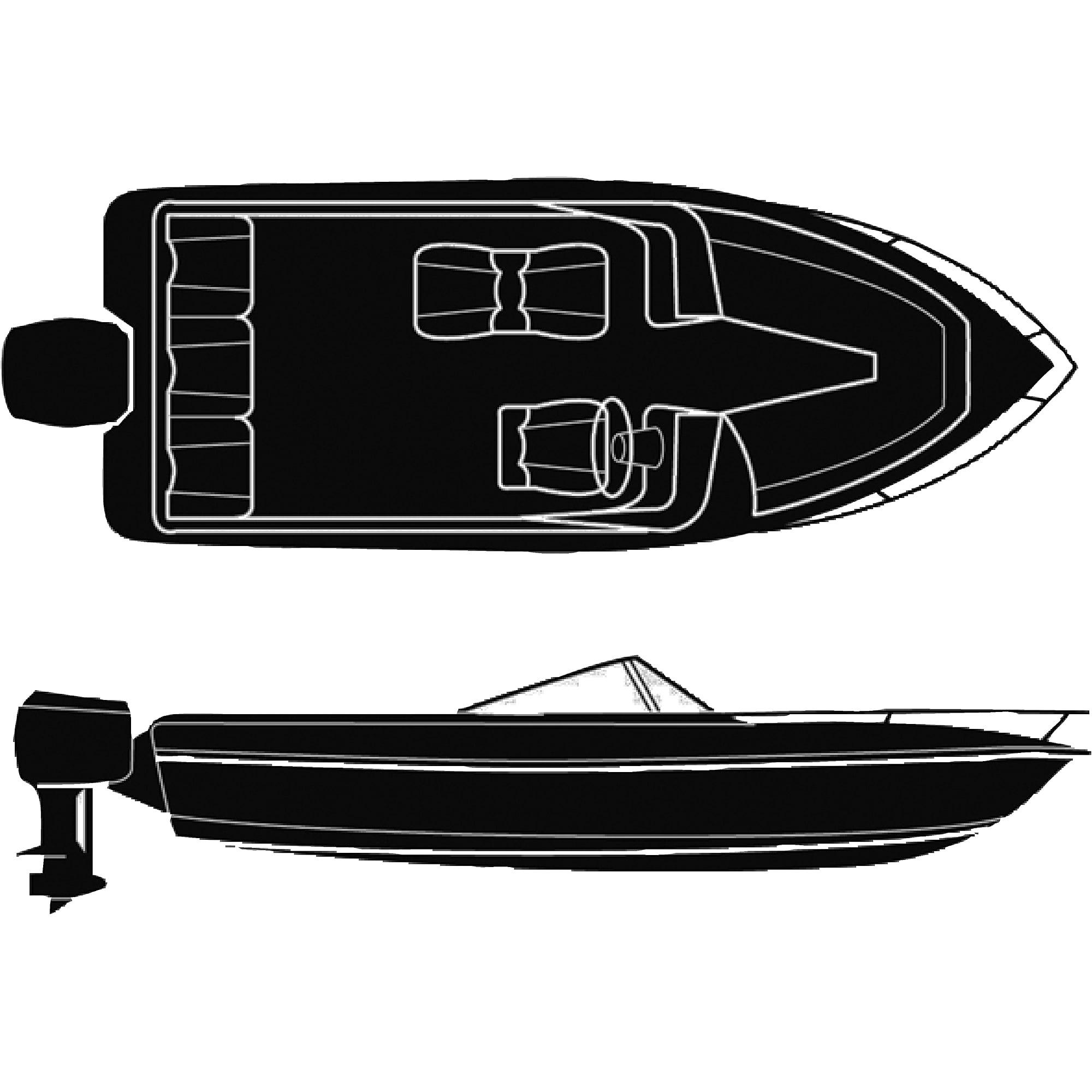 Seachoice Haze Gray 10 oz Cotton Duck Semi-Custom Trailerable Boat Cover