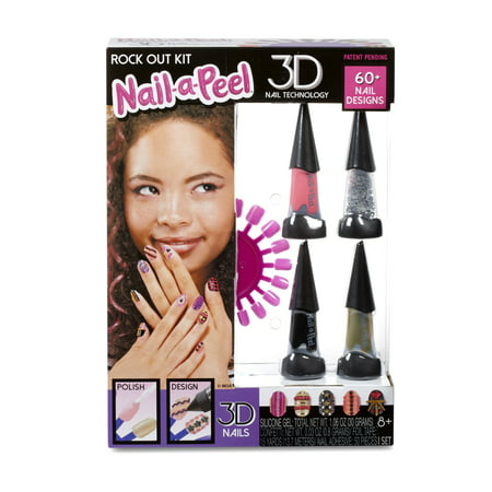 Nail-a-l Theme Kit- Rock Out Kit on at home tattoo kits, at home shellac kits, at home waxing kits, at home spa kits, at home gel kits, at home nail desk, at home nail design ideas,