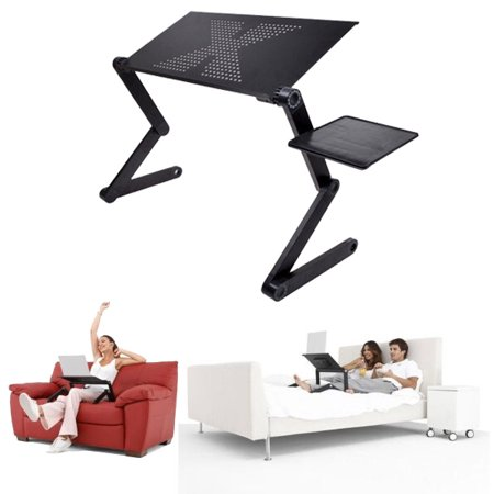 Adjustable Folding Laptop Notebook Table Stand Tray Desk with Vented for Bed Couch laptoptableforbed Lawn