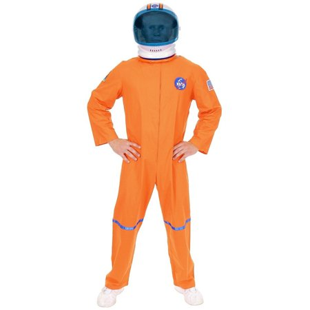 Space Suit Costumes (Adult Men's Orange NASA Astronaut Space Suit Costume And Helmet)
