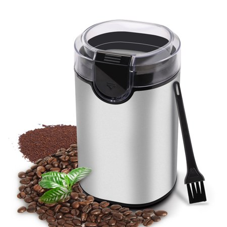 Coffee Grinder Electric Spice Grinder, Morpiot Stainless Steel Blades Grinder for Coffee Bean Seed Nut Spice Herb Pepper, Transparent Lid ,and Cleaning Brush ,