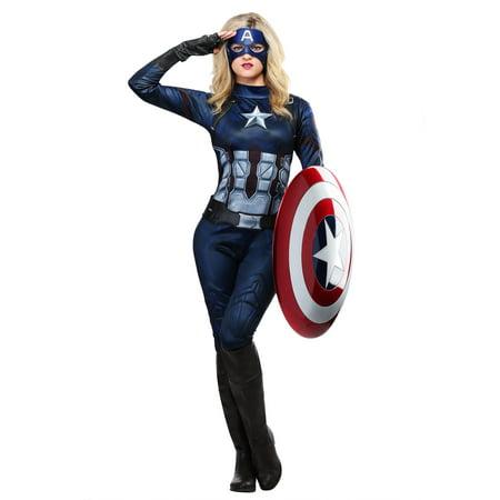 Captain America Womens (Women's Captain Costume)