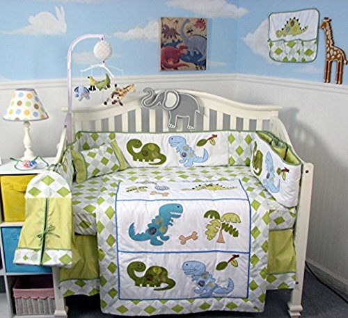 SoHo Dinosaur Story Baby Crib Nursery Bedding Set