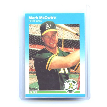 1987 Fleer Barry Bonds (1987 Fleer Update #76 Mark McGwire Oakland Athletics Rookie Card)