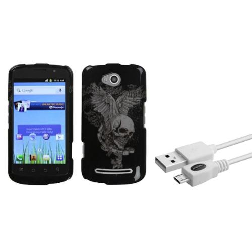 Insten Skull Wing Case for COOLPAD: 5860E (Quattro 4G) (with USB Cable)